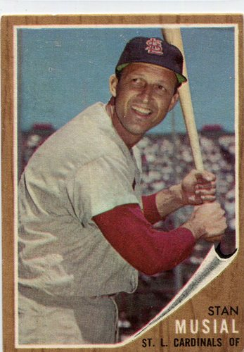 Photo of 1962 Topps #50 Stan Musial-- Hall of Famer