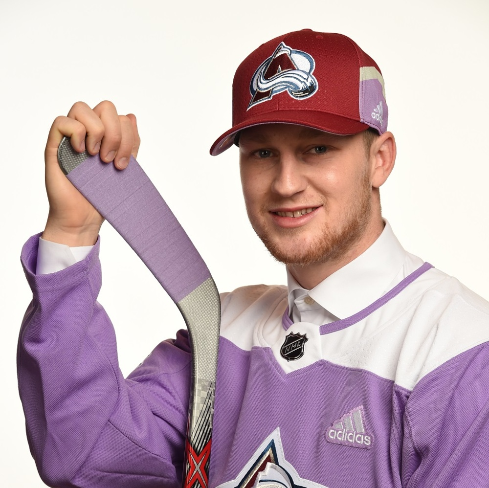 Nathan MacKinnon 2017 HFC Player Cap from Player Media Tour - Colorado Avalanche