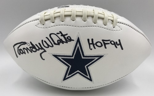 "Photo of Randy White ""HOF 94"" Autographed Dallas Cowboys Football"