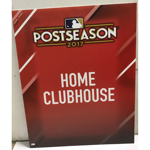 Photo of Postseason 2017 Home Clubhouse Signage