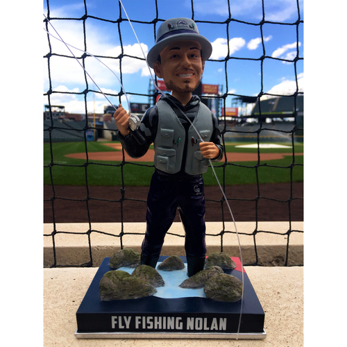 Photo of Nolan Arenado Colorado Life Style Bobblehead - Fly Fishing