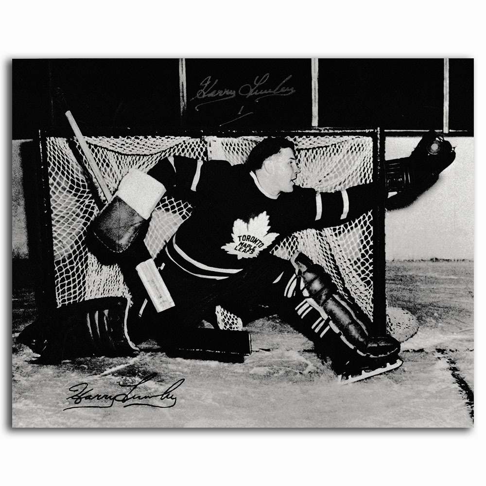 Harry Lumley (deceased) Autographed Toronto Maple Leafs 8X10 Photo