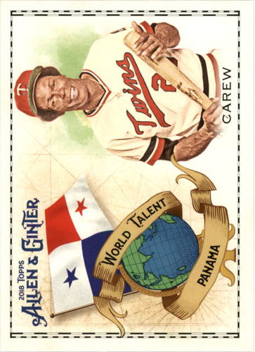 Photo of 2018 Topps Allen and Ginter World Talent #WT33 Rod Carew