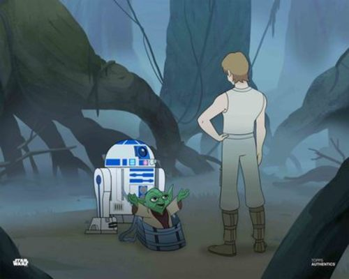 Luke Skywalker, Yoda and R2-D2