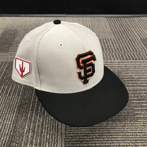 Photo of 2019 Team Issued Gray Spring Training Cap - #37 Drew Pomeranz - Size 7 1/4