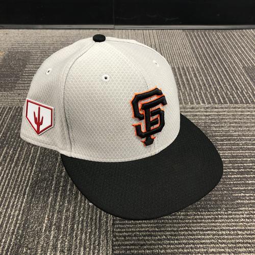 Photo of 2019 Team Issued Gray Spring Training Cap - #37 Drew Pomeranz - Size 7 1/4