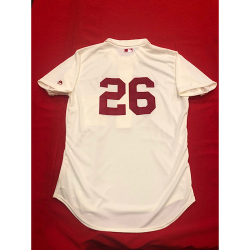 Photo of Raisel Iglesias -- 1902 Throwback Jersey -- Game-Used -- SF vs. CIN on May 4, 2019