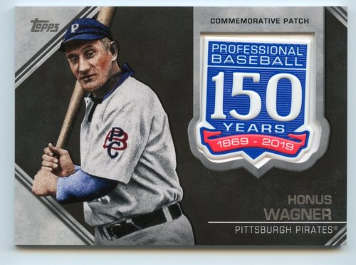 Photo of 2019 Topps 150th Anniversary Manufactured Patches #AMPHW Honus Wagner S2