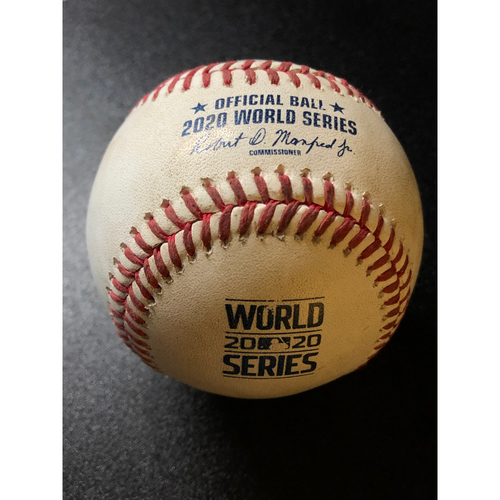 Photo of Game-Used Baseball - 2020 World Series - Los Angeles Dodgers vs. Tampa Bay Rays - Game 5 - Pitcher: Blake Treinen, Batter: Joey Wendle (Fly Out to CF) - Bot 9