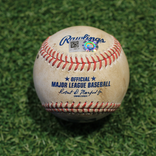 Photo of Game-Used Baseball: Nick Madrigal 15th Career Hit & 4th Career RBI (CWS @ KC 9/4/20)