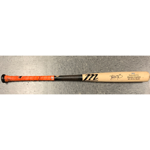 Photo of 2020 Team-Issued Autographed Game Model Marucci Bat - #35 Brandon Crawford