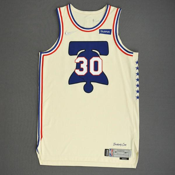 Image of Furkan Korkmaz - Philadelphia 76ers - Game-Worn Earned Edition Jersey - 2020-21 NBA Season