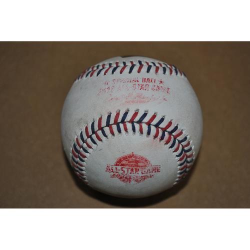 Photo of Game-Used Baseball - 2018 All-Star Game (7/17/2018) - Batter: Javier Baez, Pitcher: Jose Berrios - Swinging Strike - Bottom 5