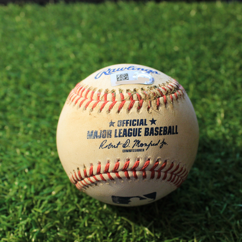Photo of Game-Used Baseball: Josh Bell 486th Career Hit (PIT@KC 9/12/20)
