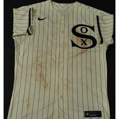 2021 New York Yankees vs. Chicago White Sox in Dyersville, Iowa - Game-Used 1919 Throwback Jersey - Adam Engel - Size 44