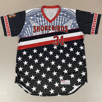 Patriotic Game Worn Autographed Jersey #31 Size 48 Ty Blach