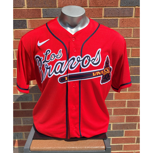 Photo of Mike Soroka MLB Authenticated Team-Issued Los Bravos Jersey