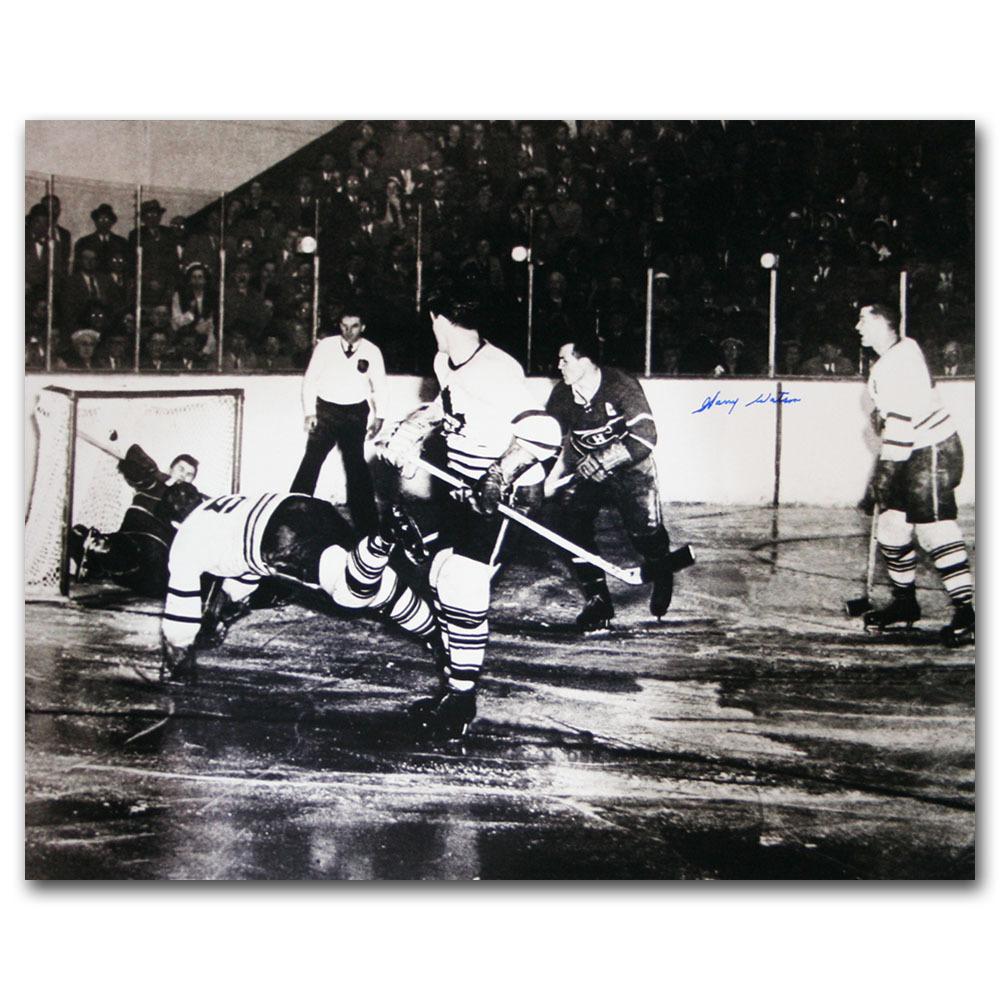 Harry Watson Autographed Toronto Maple Leafs 16X20 Photo (deceased)