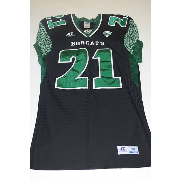Photo of # 21 - Official OHIO BOBCATS Game Worn Football Jersey (2011) - SIZE MEDIUM