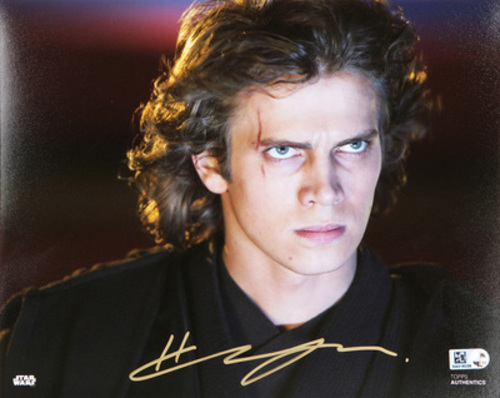 Hayden Christensen as Anakin Skywalker Autographed in Gold Ink 8x10 Photo