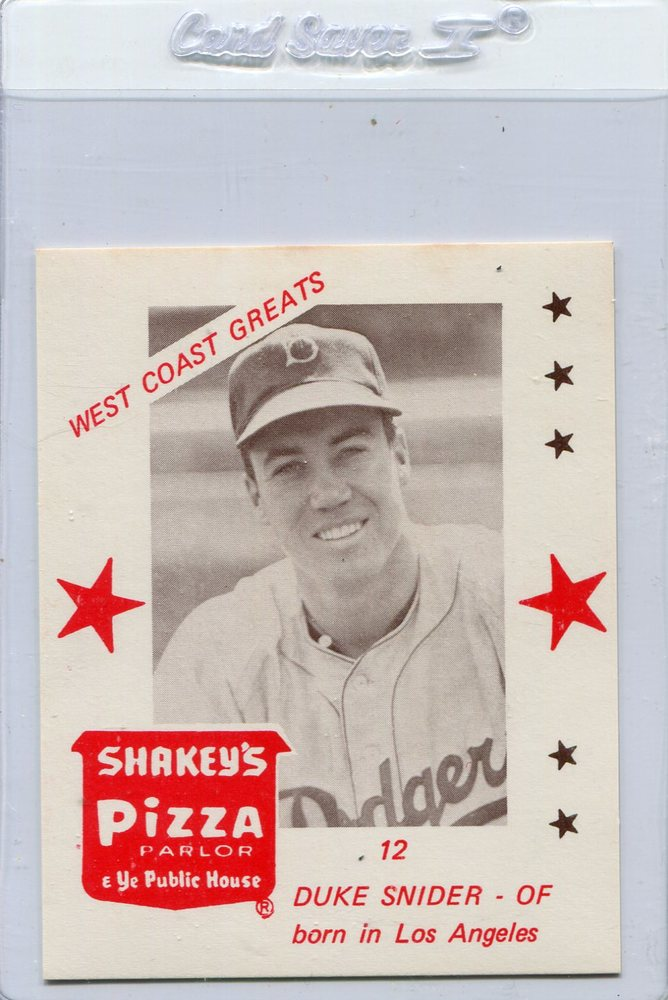 1975 Shakey's Pizza #12 Duke Snider