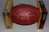 HOF - BROWNS JIM BROWN SIGNED AUTHENTIC FOOTBALL (LIGHT SIGNATURE)