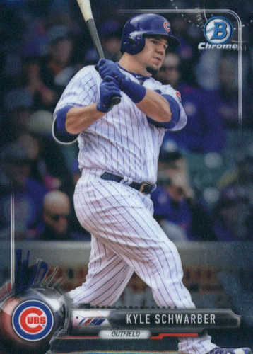 Photo of 2017 Bowman Chrome #21 Kyle Schwarber -- Cubs post-season