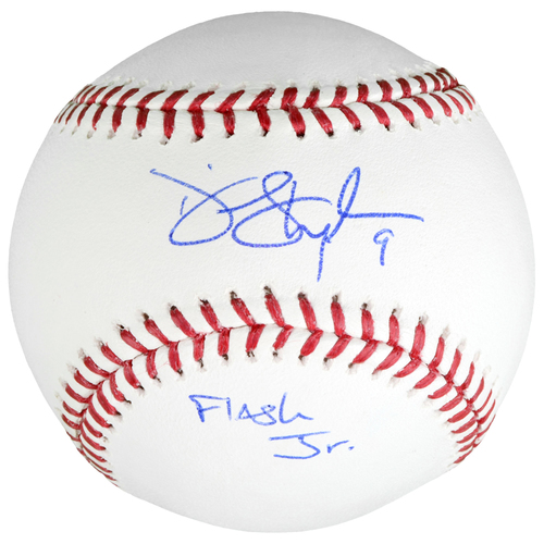 Photo of Dee Gordon Miami Marlins Autographed Baseball with Flash Jr Inscription