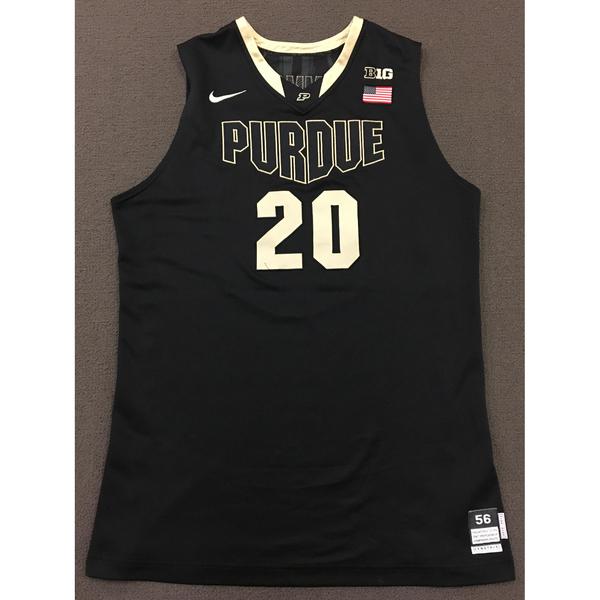 Photo of AJ Hammons #20 Purdue Men's Basketball 2012-13 Black Jersey