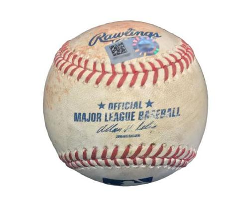 Photo of Game-Used Baseball from Pirates vs. Reds on 4/23/14 - Jay Bruce Single