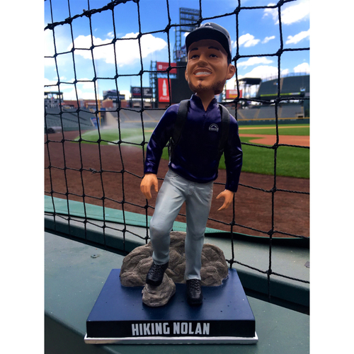 Photo of Nolan Arenado Colorado Life Style Bobblehead - Hiking