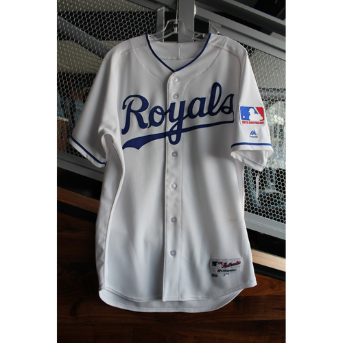 Photo of Game-Used 1969 Throwback Jersey: Whit Merrifield (Size 44 - NYY at KC - 5/19/18)