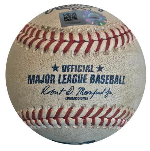 Photo of Game-Used Baseball from Pirates vs. Cubs on 5/28/18 - Kuhl Strikes Out Baez