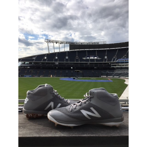Photo of Game-Used Danny Duffy Cleats - 8/23/2018