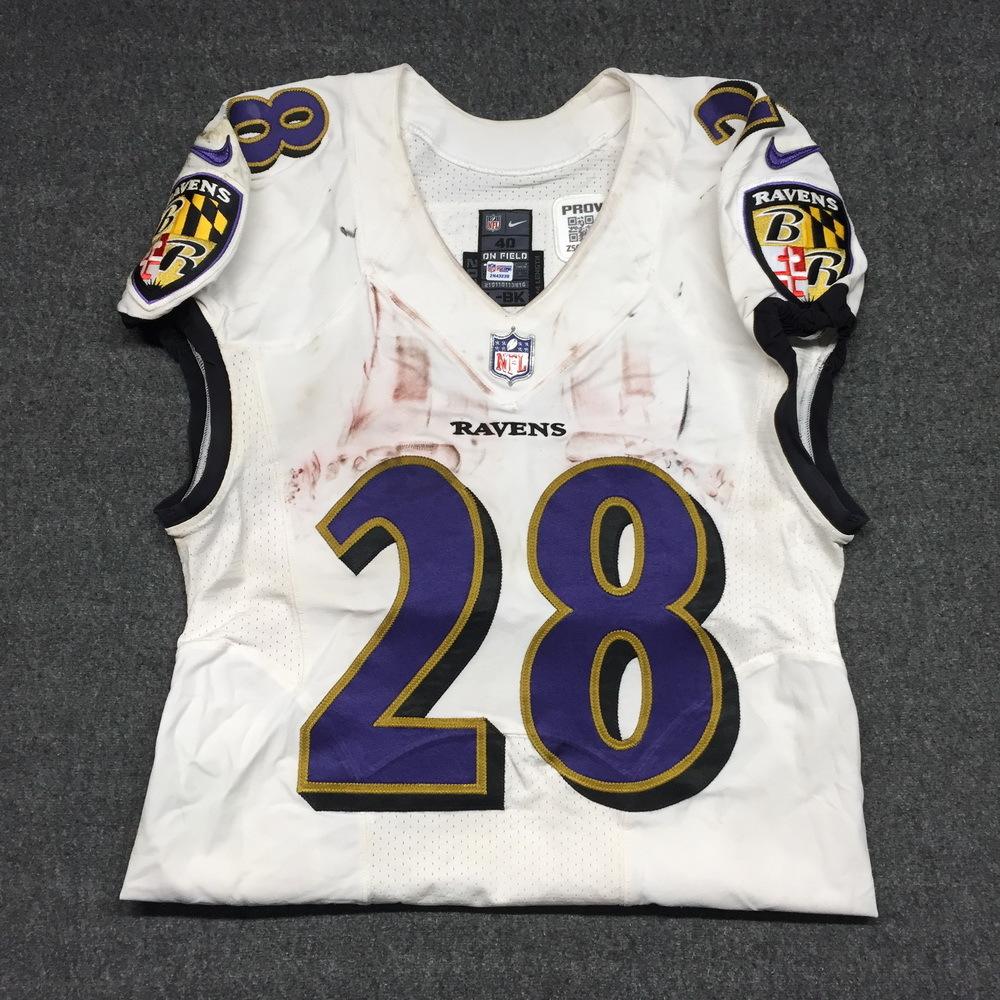 NFL Auction   London Games - Ravens Terrance West game worn Ravens ...