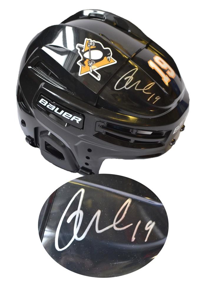Derick Brassard Signed Helmet Black Bauer