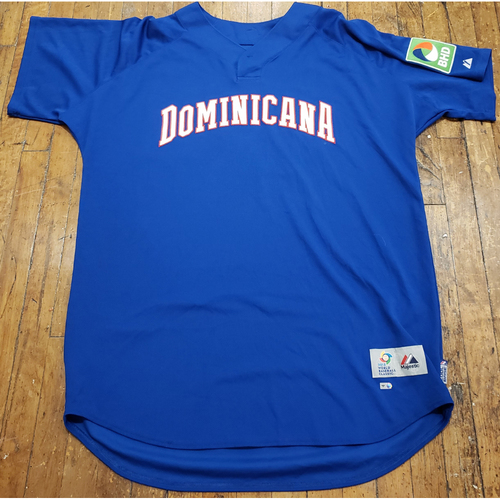 Photo of 2013 World Baseball Classic Game Used Jersey - Nelson Cruz - Size 54 (Dominicana)