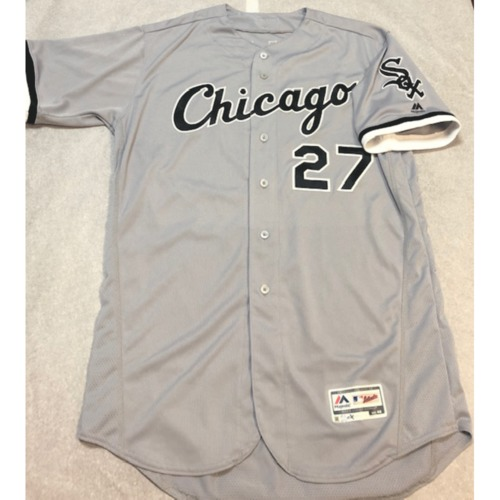 Photo of Lucas Giolito Team Issued 2018 Grey Road Jersey