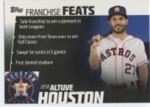 Photo of 2019 Topps Franchise Feats #FF12 Jose Altuve