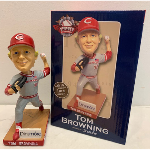 Photo of Reds Hall of Fame 1990 25th Anniversary Series - Tom Browning Autographed Bobblehead