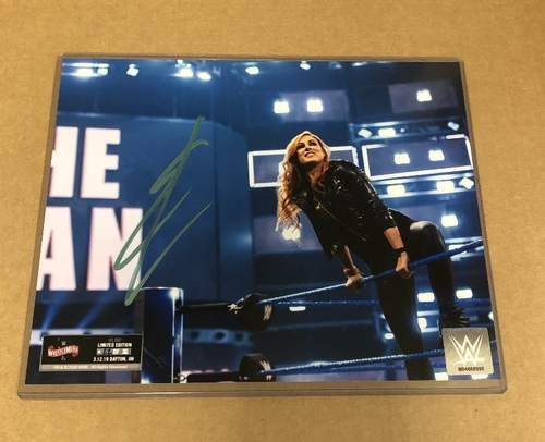 Becky Lynch SIGNED WrestleMania 36 Exclusive Photo (Random Number)