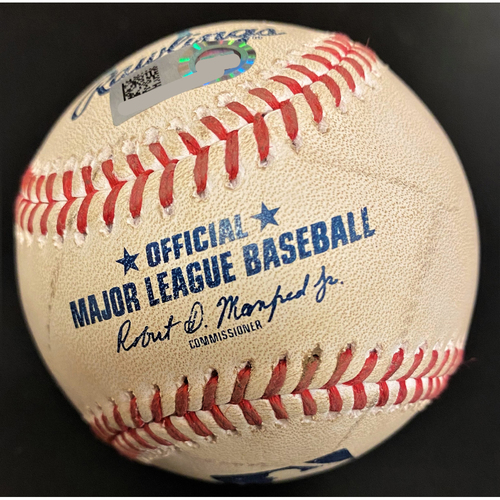 Photo of Brady Singer Kansas City Royals Game-Pitched Baseball (MLB AUTHENTICATED)