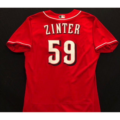 Photo of Alan Zinter -- 2020 Spring Training Jersey -- Team-Issued -- Size 46