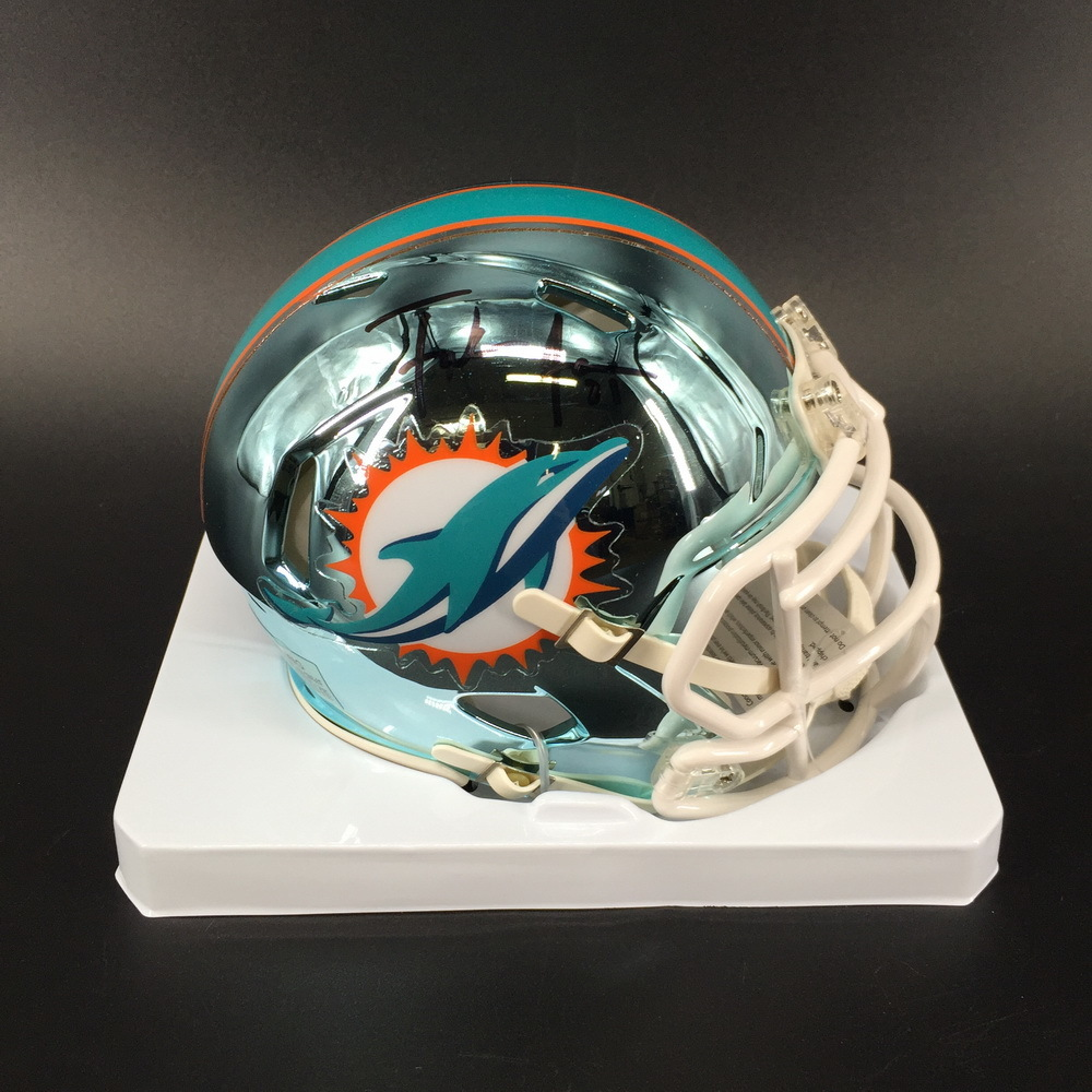 Dolphins - Frank Gore Signed Chrome Mini Helmet