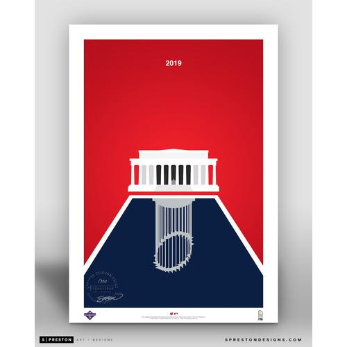 Photo of Washington Nationals Minimalist World Series 2019 Limited Edition Art Print by S. Preston