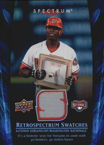 Photo of 2008 Upper Deck Spectrum Retrospectrum Swatches #AS3 Alfonso Soriano
