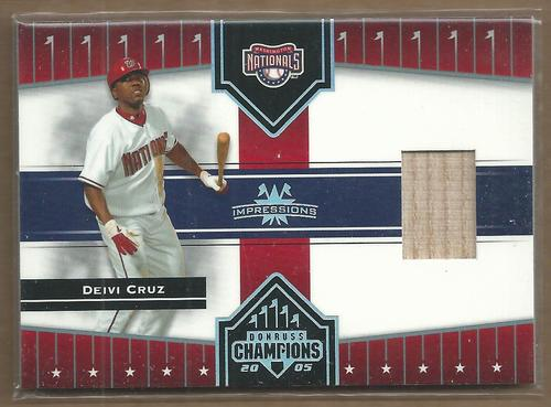 Photo of 2005 Donruss Champions Impressions Material #98 Deivi Cruz Nats Bat T5