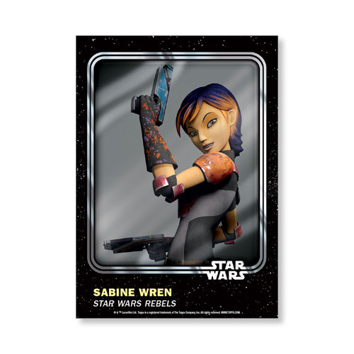 Sabine Wren 2016 Star Wars Card Trader Base Poster - # to 99