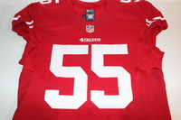 CRUCIAL CATCH - 49ERS AHMAD BROOKS GAME ISSUED AND SIGNED 49ERS JERSEY (OCTOBER 23, 2016)