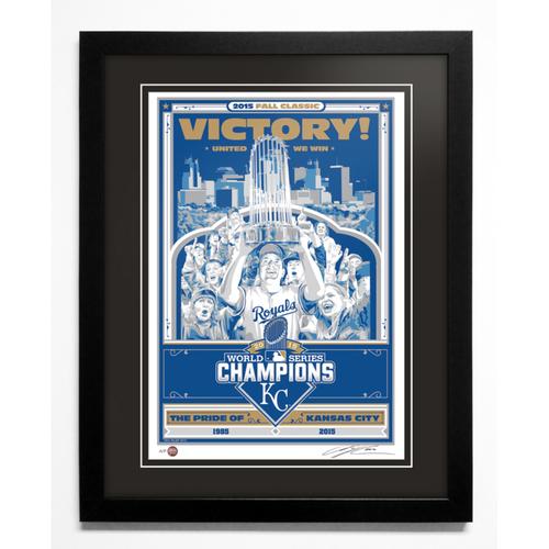 2015 Kansas City Royals World Series Champions Handmade Serigraph, Artist Proof, Signed by Artist & Framed